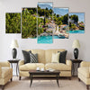Beautiful Adriatic Bay and the Village near Split Multi panel canvas wall art