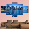 Singapore city in sunset time multi panel canvas wall art