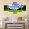 Picturesque Dolomites landscape with mountain road Multi panel canvas wall art