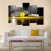 3D tennis racket with tennis ball Multi panel canvas wall art