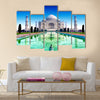 India, Taj Mahal Indian palace Multi Panel Canvas Wall Art