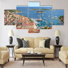 Gorgeous picturesque view on the Old Town of Hvar Multi panel canvas wall art