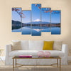 Mount Fuji and Cherry Tree Multi panel canvas wall art