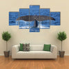 The Tail Of A Sperm Whale Diving Multi Panel Canvas Wall Art