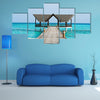 A Beauty Of The Indian Ocean With A Jetty Over It Multi Panel Canvas Wall Art