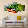 Cocktail from vegetables and spinach with sesame oil Multi panel canvas wall art