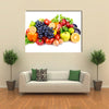 Set of different fruits and vegetables isolated on white background Multi panel canvas wall art