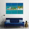 Beautiful and relaxing view of beach in Ocho Rios, Jamaica Multi panel canvas wall art