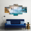 Godafoss is a very beautiful Icelandic waterfall Multi Panel Canvas Wall Art