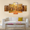 Beautiful landscape - autumn forest Multi panel canvas wall art