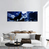 Moon and wolf panoramic canvas wall art