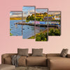 View on Portree before sunset, Isle of Skye, Scotland Multi panel canvas wall art