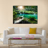 Cascades National Park in Guatemala Semuc Champey at sunset Multi panel canvas wall art