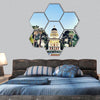 Sacramento state Capitol building hexagonal canvas wall art