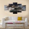 European-built main battle tanks preparing to engage the enemy Multi Panel Canvas Wall Art