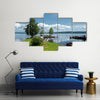 Cool And Silent Morning Of Summer With A Pacified Sensation Multi Panel Canvas Wall Art