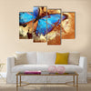 Painting with butterfly Multi Panel Canvas Wall Art