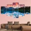 Mountain lake in National Park High Tatra dramatic overcrast sky  wall art