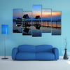 The sunset at Bueng See Fai, Phichit, Thailand multi panel canvas wall art