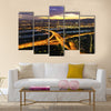 Panorama of Vienna with Danube River Island  multi panel canvas wall art