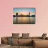 Big Ben and Houses of parliament at dusk multi panel canvas wall art