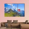 Swiss flag on the top of Mannlichen (Jungfrau region, Bern, wall art