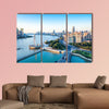 Shanghai morning, beautiful Huangpu River and the bund, China multi panel canvas wall art