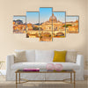 Beautiful View at Tiber and St Peter Multi panel canvas wall art