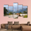 Two cows grazing in Casillas Mountain Pass, Iruelas Valley wall art