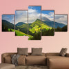 Little village in the mountains, Alps, Europe Multi panel canvas wall art