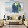 Earth melting into water Multi Panel Canvas Wall Art