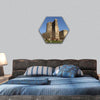 Azerbaijan Baku Maiden tower hexagonal canvas wall art