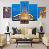 Beautiful City centre of Sofia, capital of Bulgaria Multi panel canvas wall art