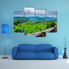 Rice Fields at Maechaem in Thailand multi panel canvas wall art