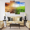 A troubled young man walking into the light Multi Panel Canvas Wall Art