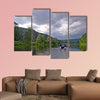 white river rafting in the southern Urals Multi panel canvas wall art