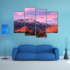A Purple Pikes Peak Mountain overlooking Garden of the Gods in Colorado Springs, Colorado multi panel canvas wall art
