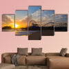 Santa Monica California sunset on Pier Ferrys wheel multi panel canvas wall art