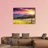 Majestic sunset in the mountains landscape. Carpathian, Ukraine Multi panel canvas wall art