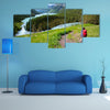 Hiker In Altai Mountains Russian Federation Multi Panel Canvas Wall Art