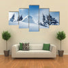 Winter Landscape On A Sunny Day In The Carpathian Mountains, Ukraine, Multi Panel Canvas Wall Art