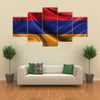 Realistic Wavy Flag Of Armenia Multi Panel Canvas Wall Art
