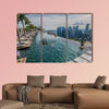 Infinity Pool with Singapore Skyline multi panel canvas wall art