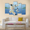 Watercolor seagulls Multi Panel Canvas Wall Art