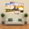 Shore temple at sunset sky in Mamallapuram Tamil Nadu India Multi panel canvas wall art