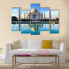 Taj Mahal in Agra in early morning Multi Panel Canvas Wall Art
