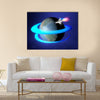 Orbit Spacecraft Around The Earth Multi Panel Canvas Wall Art