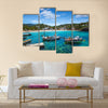 The Ibiza Cala Vedella In The Balearic Island In Spain Multi Panel Canvas Wall Art
