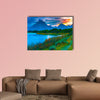 Amazing Sunset over Grand Tetons taken from the Oxbow Bend Turnout multi panel wall art canvas