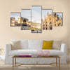 Impressive image of Duomo cathedral and Vittorio Emanuele gallery Multi Panel Canvas Wall Art